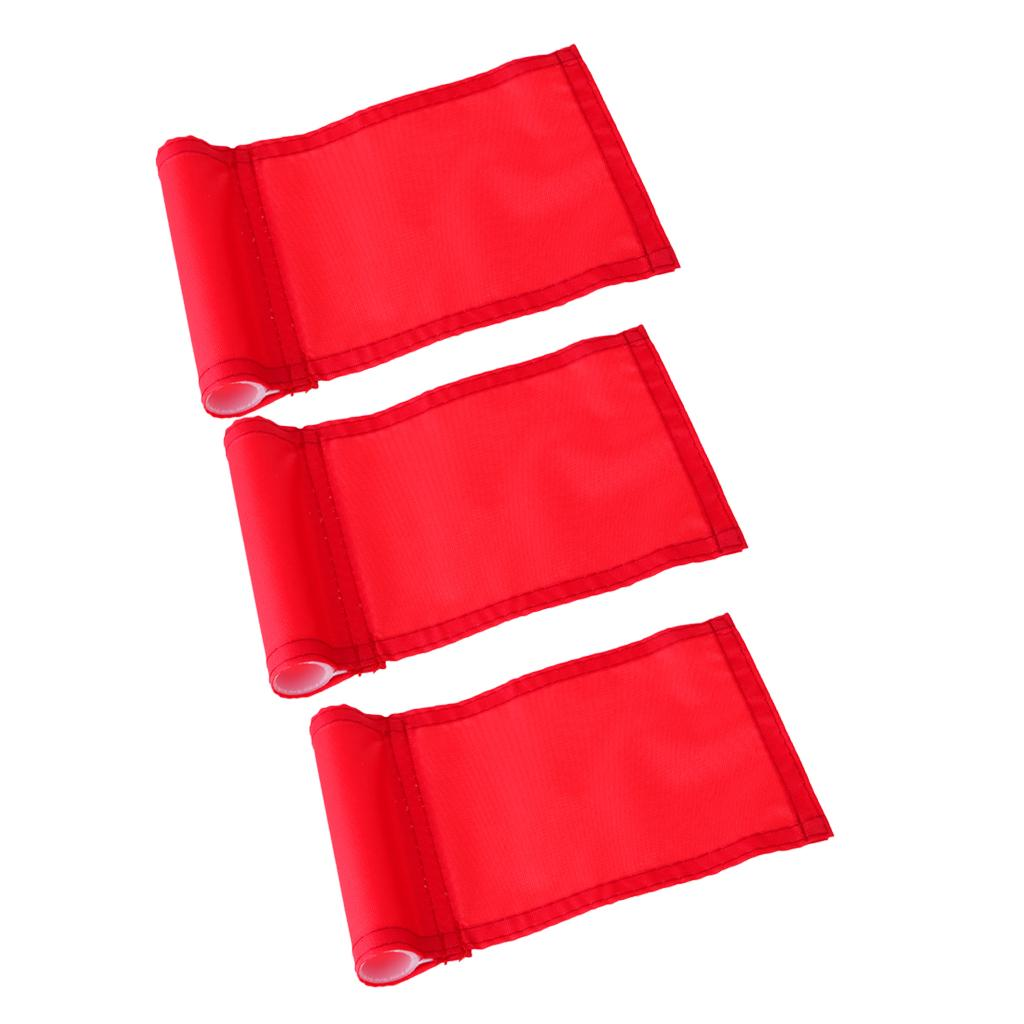 3Pcs Practice Golf Hole Pole Cup Flag,Outdoor Garden Golf Sports Training Aid,Backyard Putting Green Flag Replacement Red