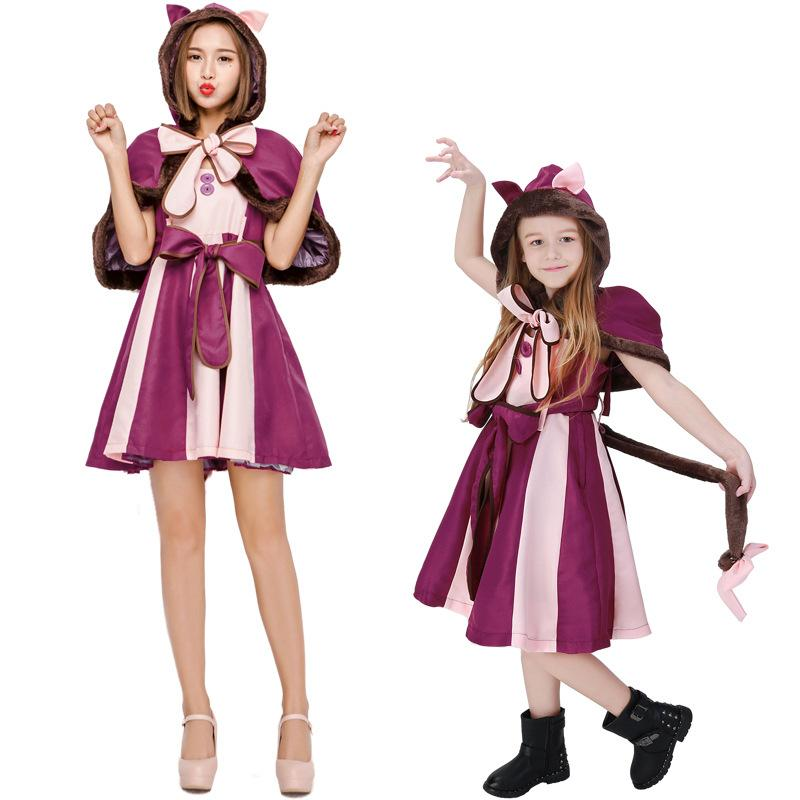 Alice in Wonderland Cheshire cat Cosplay Costumes fashion Girls and ladies princess dress lolita Skirts Lolita kimono dress