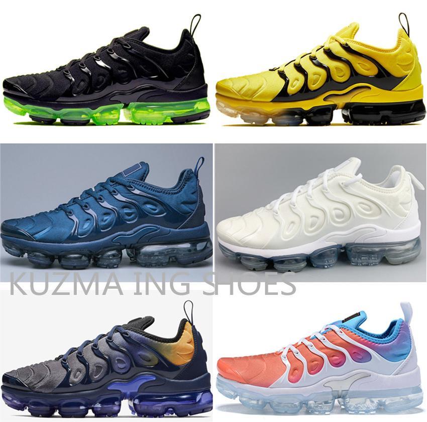 zapatillas deportivas Hott venta TN más los zapatos de los hombres al aire libre Formadores Negro Blanco requin oliva plata metálica TN Deportes zapatos deportivos