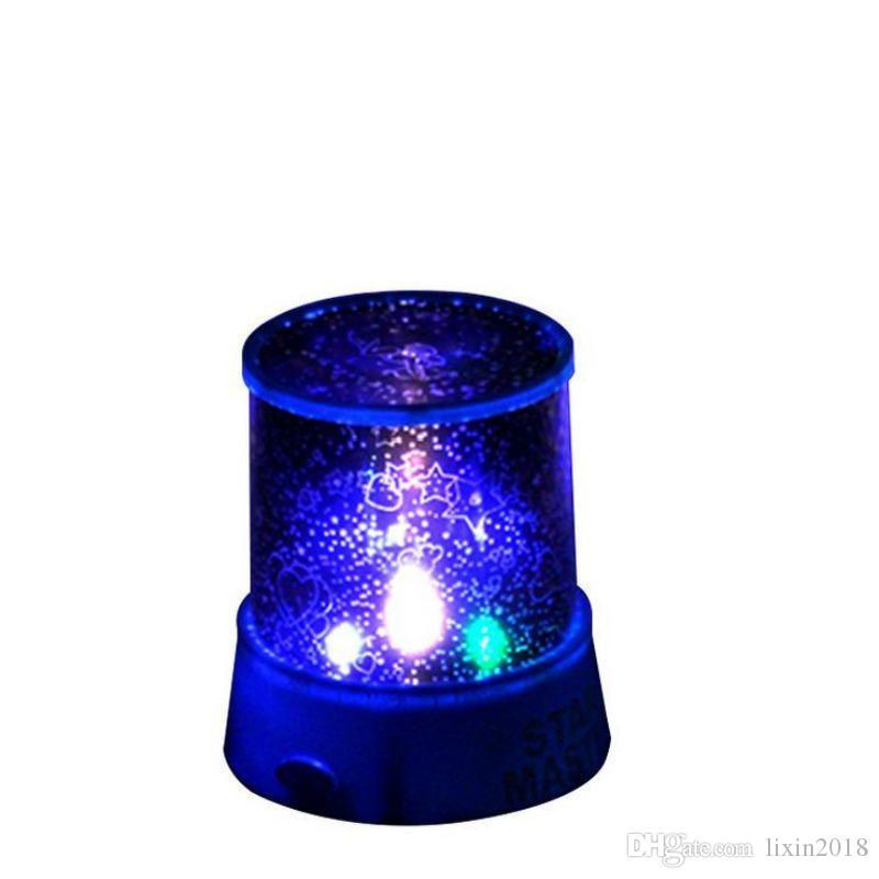 새로운 사랑스러운 다채로운 LED 야간 조명 프로젝터 별이 빛나는 하늘 스타 달 마스터 어린이 키즈 아기 수면 로맨틱 다채로운 LED가 프로젝션 램프