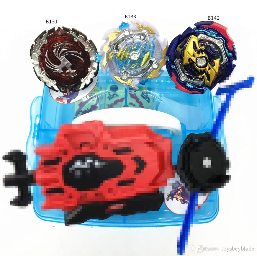 Groyscope Burst Set B131 B142 B133 With 2 Launcher and Blue Groyscope Storage Box Spinning top as children's Day gifts