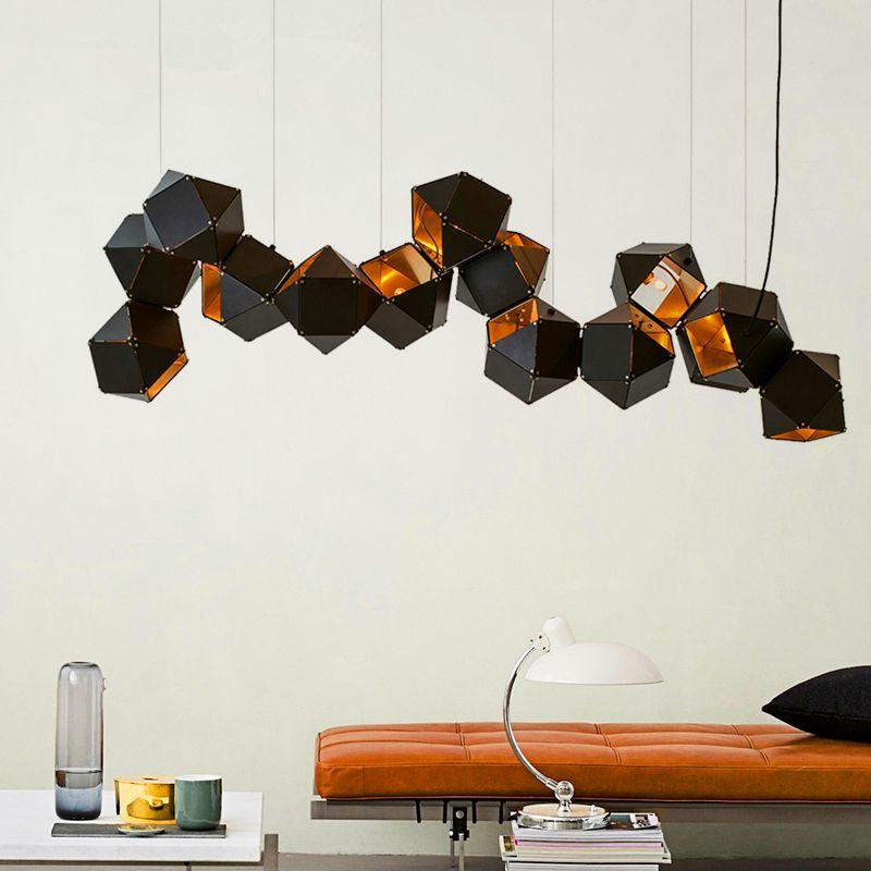 Moderne LED-Kronleuchter Nordic Hängeleuchte Loft Deko Leuchten Leuchten Raumaufhängung Hängeleuchten Schlafzimmer leben