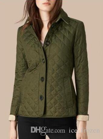 A maniche lunghe a breve rivestimento delle donne dell'Inghilterra di stile casuale cappotti Moda Autunno New British London Classic giacche slim fit monopetto Khaki