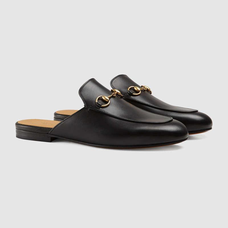 Designer dames de qualité supérieure avec boîte en cuir noir et blanc pantoufles princesse de fête de luxe chaussures casual chaussures habillées
