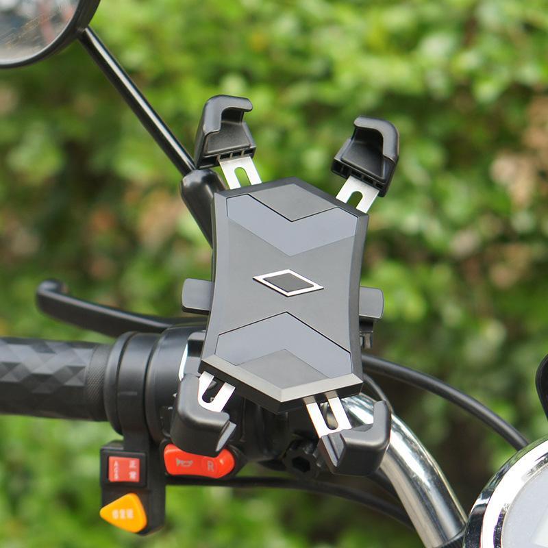 Bicicleta ajustable soporte para teléfono 360 grados de rotación de la bicicleta manillar de la motocicleta Soporte universal de bicicleta titular para el iPhone XS / Max