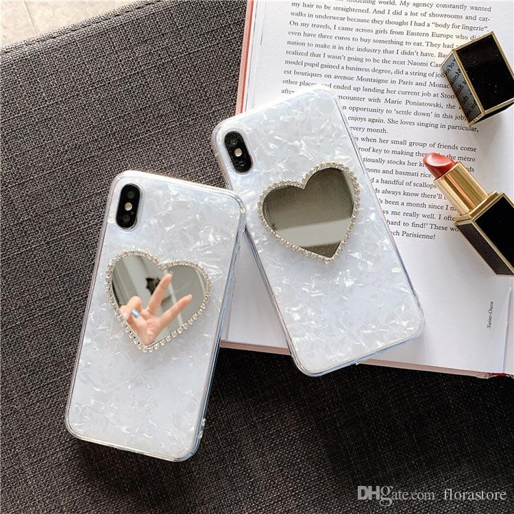 Hot Sale Bling Bling Diamond TPU Mirror Phone Case Glitter Mirror Phone Shell for Apple iPhone 7 8PLUS XR X MAX