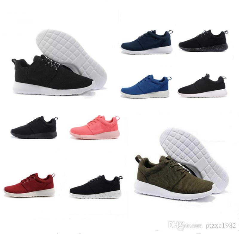 Mais barato Run Homens Mulheres Correndo Sapatos Londres Olímpico Preto Vermelho Branco Branco Cinza Azul Andar Sapatilhas Tênis Tênis Tamanho 36-45 Frete Grátis