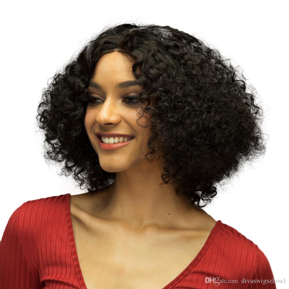 Preplucked 13x6 parte profunda del frente del cordón pelucas Pixie Cut corto verano de Bob peluca Jerry rizado del cabello humano para las mujeres Negro Remy brasileño