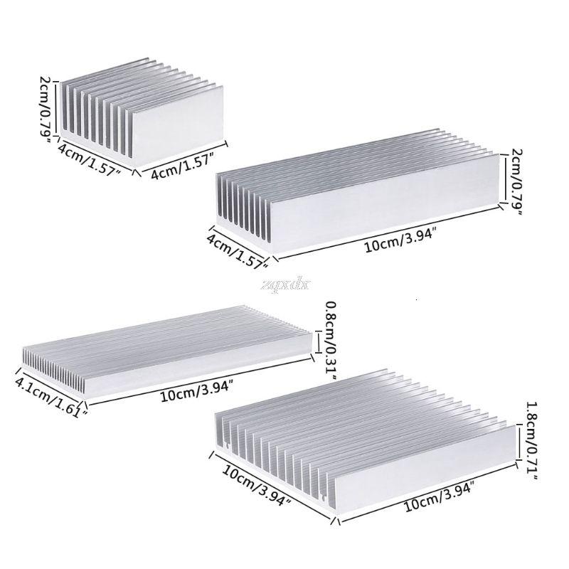 Extrudados de alumínio do dissipador de calor para LED de alta potência IC Chip refrigerador Radiador dissipador de calor Drop Ship