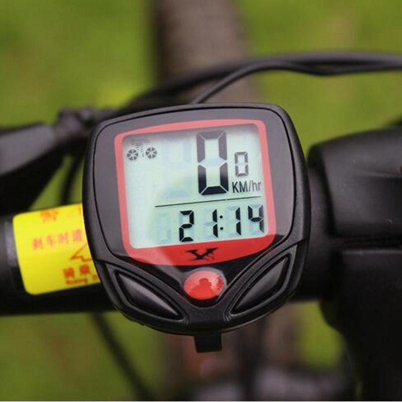Bike Computers with LCD Digital Display Outdoors Waterproof Bicycle Odometer Speedometer Cycling Stopwatch Riding Accessories Tool