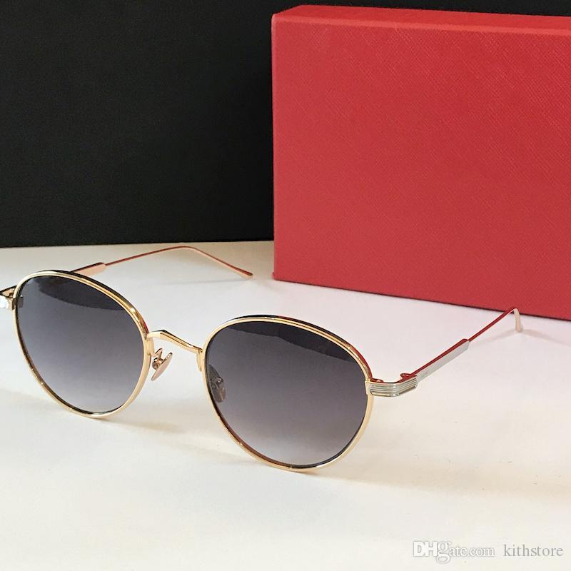 2020 novo Luxury Vintage Rodada lazer Óculos de sol Mulheres Marca Designer Feminino Sunglass Pontos óculos de sol Mulheres Lady Para Sunglass Espelho Oval
