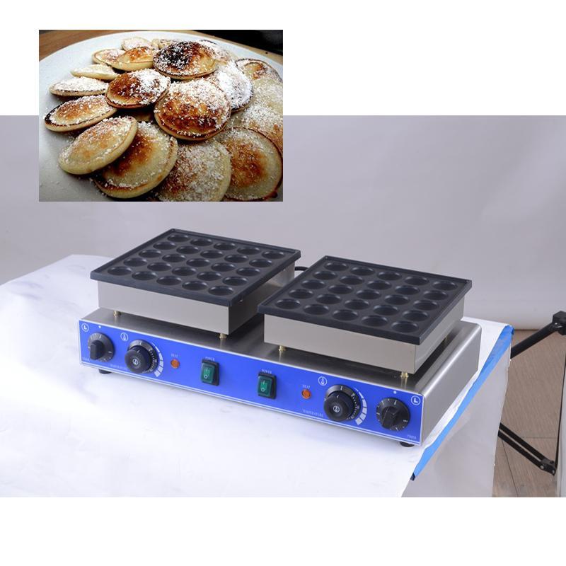 CE sertifikalı Yapışmaz 50 Delikler Poffertjes Grill 110V 220V Mini Hollandalı Krep Yapma Makinası Çıtır Waffle Pan