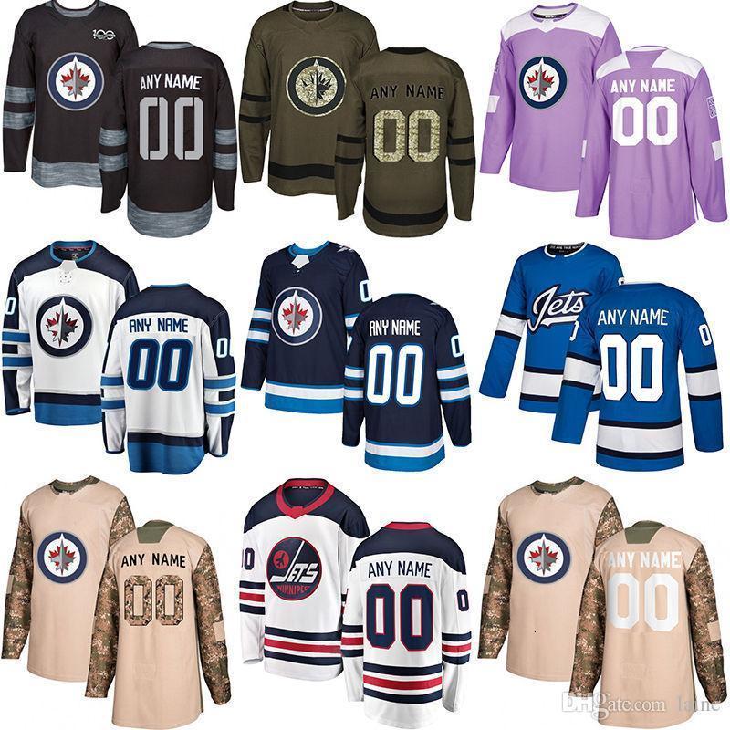 -2019 Notícias Winnipeg Jets Hóquei Jerseys Múltiplos Estilos Mens Personalizado Qualquer Nome Em Qualquer Número Jerseys de Hóquei