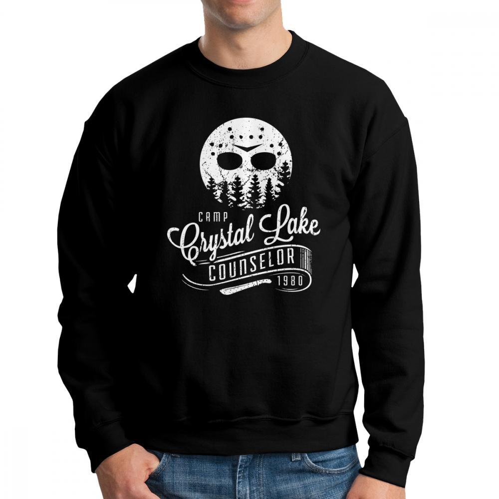 Uomini Jason Voorhees Camp Crystal Lake Counselor Venerdì 13th Horror Felpe Casual Felpe Cotton Classic Pullover Maschio