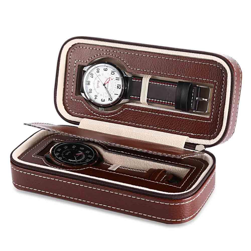 Portátil relógio zipper2 - caixa de relógio bit, Casal caixa saco zipper jóias display de armazenamento Organizer caso do curso Caixa