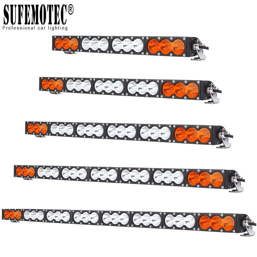 """Slim 22 """" 32 """" 43 """" 54 Inch Led Light Bar FOR Offroad Truck SUV 4X4 4WD Combo White Amber Driving Fog Lamp 12V 24V"""