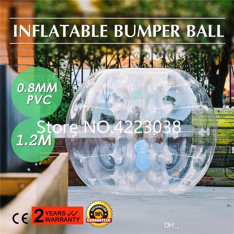 Свободная перевозка груза 0.8mm PVC 1,2м Надувной пузырь Футбол Human Hamster Болл Бампер тела костюм Loopy пузыря футбол Зорб Болл