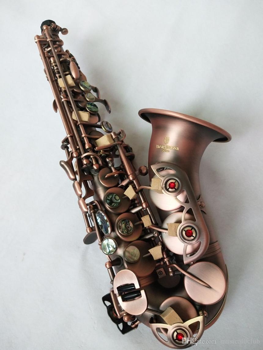 Yanagisawa SC-992 Profesyonel Soprano Saksafon B ağızlıklar ile B düz bakır antika müzik aletleri ÜCRETSIZ kargo