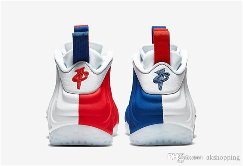 2019 Горячие Аутентичные AIR ONES FOAMPOSITEES США Мужчины Женщины Баскетбол Обувь Спортивные Открытый Кроссовки Настоящее Углеродного Волокна С Оригинальной коробке
