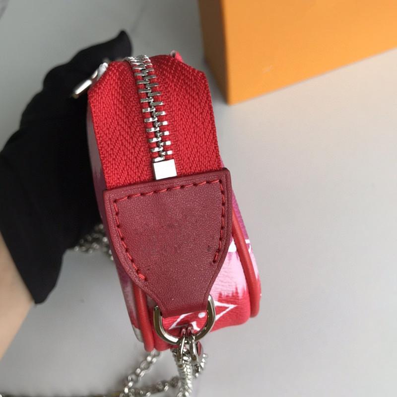 ESCALE POCHETTE femmes M69269 Mini ACCESSOIRES Designer d'embrayage Sac à chaîne Vagabonds New Tie Série géant Dye petits sacs