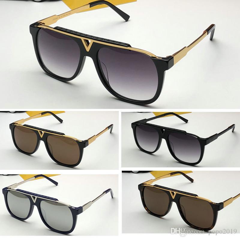 أحدث بيع شعبية مصمم أزياء الرجال نظارات شمس 0937 لوحة مربع الإطار المعدني مزيج عدسة أعلى جودة UV400 مع الاطار الأصلي