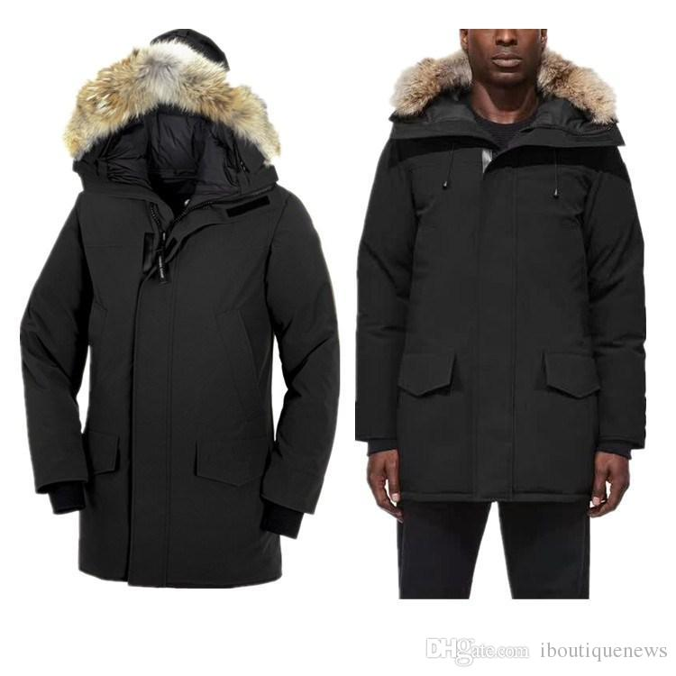 Wholesale Star Same Style Pocket Decoration Mens Winter Coat With Fur Hair Collar Fashion Coat Thickening Mens Designer Winter Coats