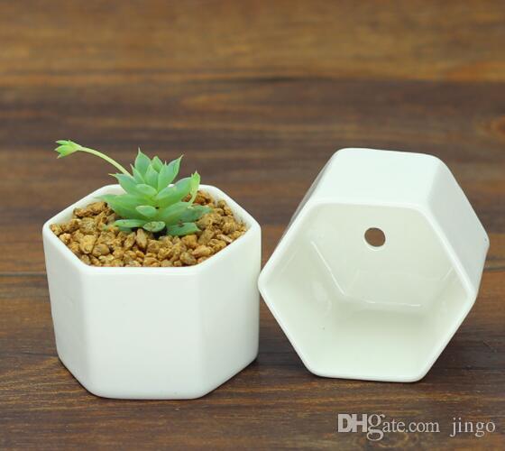 DHL ceramic bonsai pots wholesale mini white porcelain flowerpots suppliers for seeding succulent indoor home Nursery planters Supplies nf