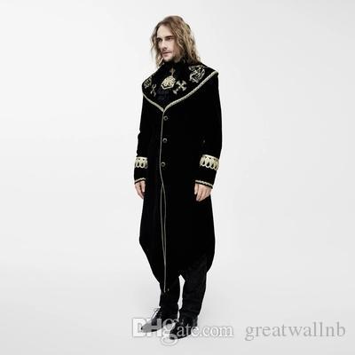 100% echte Fotos Qualität Cosplay Jacke Herren mittelalterliche Renaissance Jacke Smoking lange Jacke / Dark Prince Cosplay