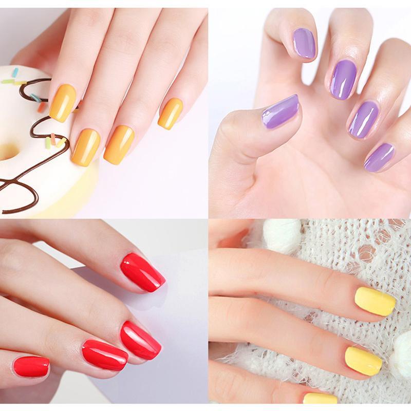 Hot 6 Pcs Verniz para Unhas de Longa Duração Nail Art Verniz Manicure Gel Secagem Rápida Laca SJ66