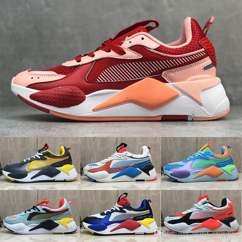 Puma rs x Modo caldo Red pum RS-X donne mens reinvenzione Giocattoli scarpe da corsa Bianco Nero Blu Giallo pattini atletici degli addestratori sistema sportivo Sneakers