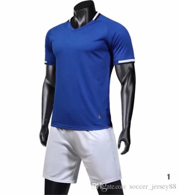 New arrive Blank soccer jersey #1901-11-58 customize Hot Sale Top Quality Quick Drying T-shirt uniforms jersey football shirts