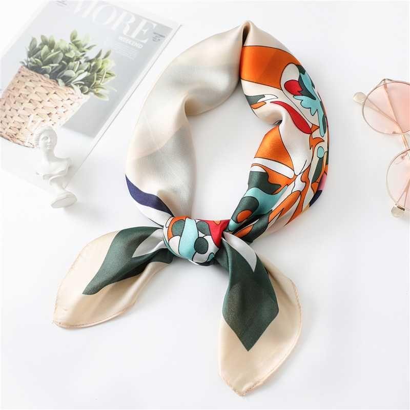 Квадратные шарфы мода Леди шаблон шелковый шарф женская сумка Лента украшения волос группа шейный платок Рождественский подарок высокое качество