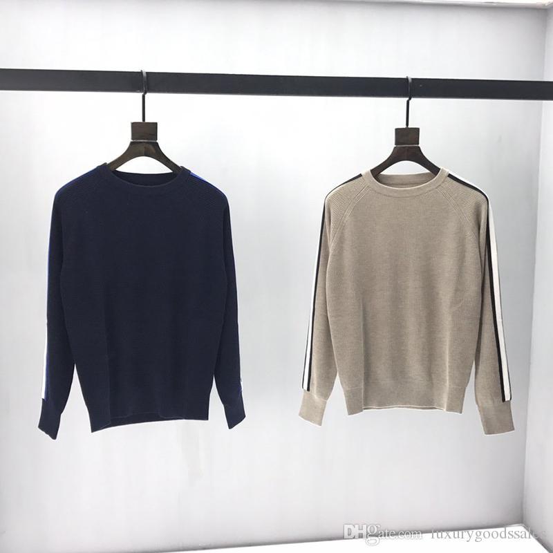 2019 Fransa Paris sonbahar ve kış sıcak kazak son yün örme moda yüksek kaliteli erkek tasarımcı konfor üst O-boyun