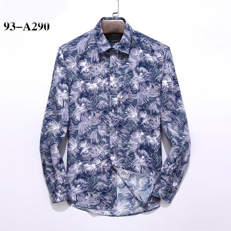 le style allemand BS hombre de haute qualité 100% coton Chemises Camisa Masculina hommes manches longues mode robe chemises de homme occasionnels