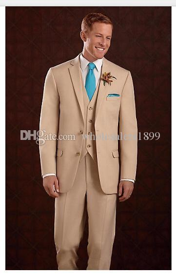 Bester Bräutigam-Hochzeitskleid der neuen Art und Weise Beige, ausgezeichnete Mann-Geschäfts-Tätigkeits-Klage-Partei-Abschlussball-Klage (Jacke + pants + vest + tie) Nr