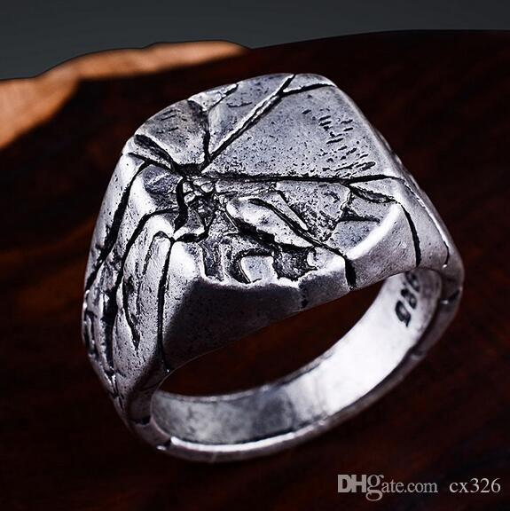 Smooth Men's Vintage Rock Punk Rings Cool Fashion Individuality Signet Ring for Men Party Jewelry
