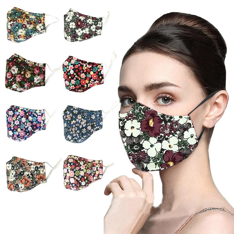 Masque de concepteur Masque Mode Noir Réutilisable Anti-Bag and Dust PM2.5 Impression Masques avec filtre En stock