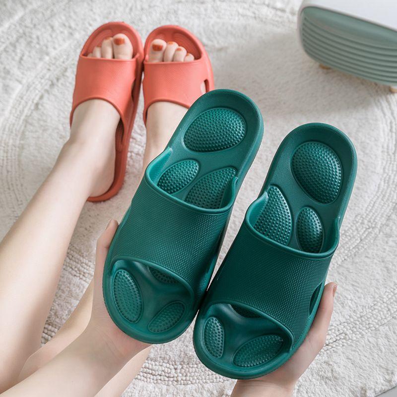Estilo coreano Casal Slipper EVA suave inferior Inodoro Início silencioso Chinelos Non-Slip resistente ao desgaste Slipper para homens Sapatos de interior
