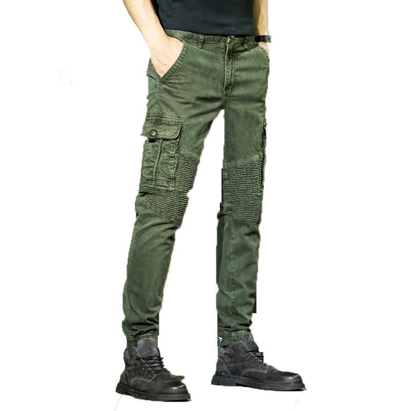 2020 Marken-Männer Fashion Street beiläufige Jogger Hosen Mens Tactical Hose Men Cotton Cargo Pants Droppshipping
