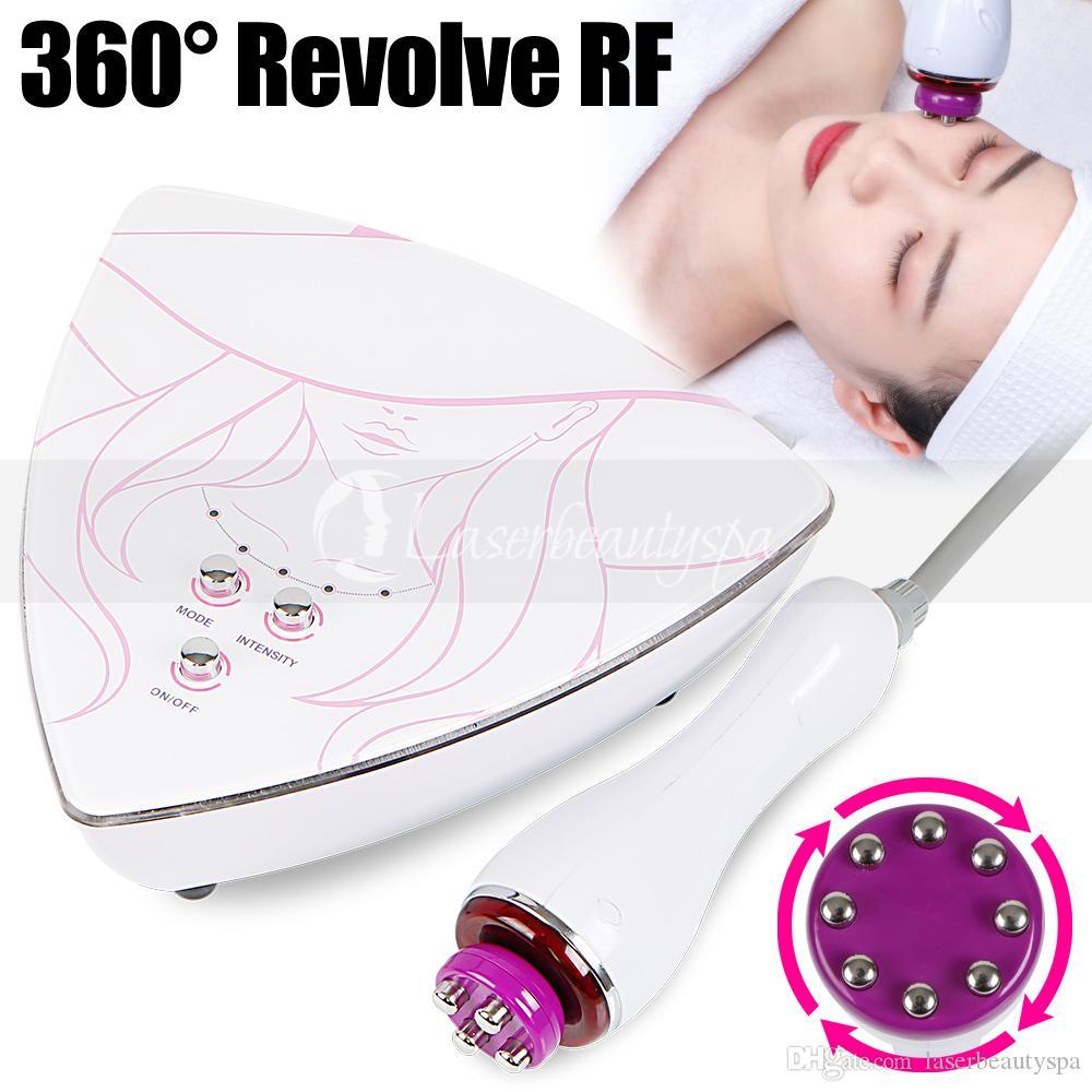 فعالة 360 درجة رئيس الدوافع RF راديو التردد العناية بالبشرة إزالة العين الأسود دائرة مكافحة سن الجمال صالون آلة استخدام المنزل