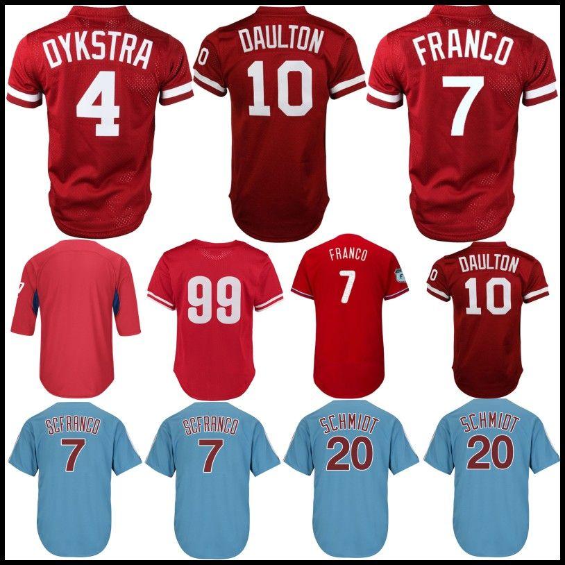 buy popular 8646b 4ddc4 2019 10 Darren Daulton Jersey Philadelphia Phillies 7 Maikel ...