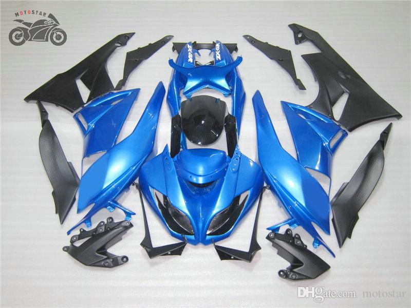 Personalizza moto carenatura kit per la Kawasaki Ninja ZX-6R 2009 2010 2011 2012 blu corsa su strada carenature cinesi kit ZX-6R ZX636 09-12