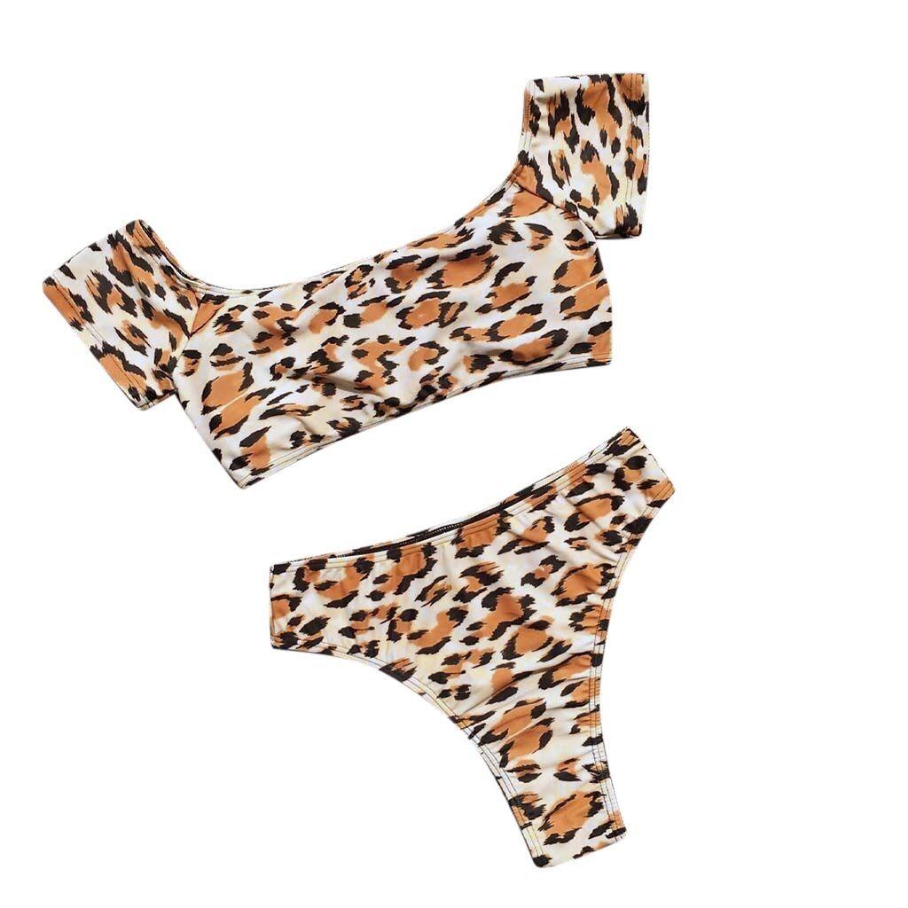 2019 MUQGEW Women's Bikini Solid Set fashion Swimsuit Two Piece Filled Bra Swimwear Beachwear bathing suit women biquinis