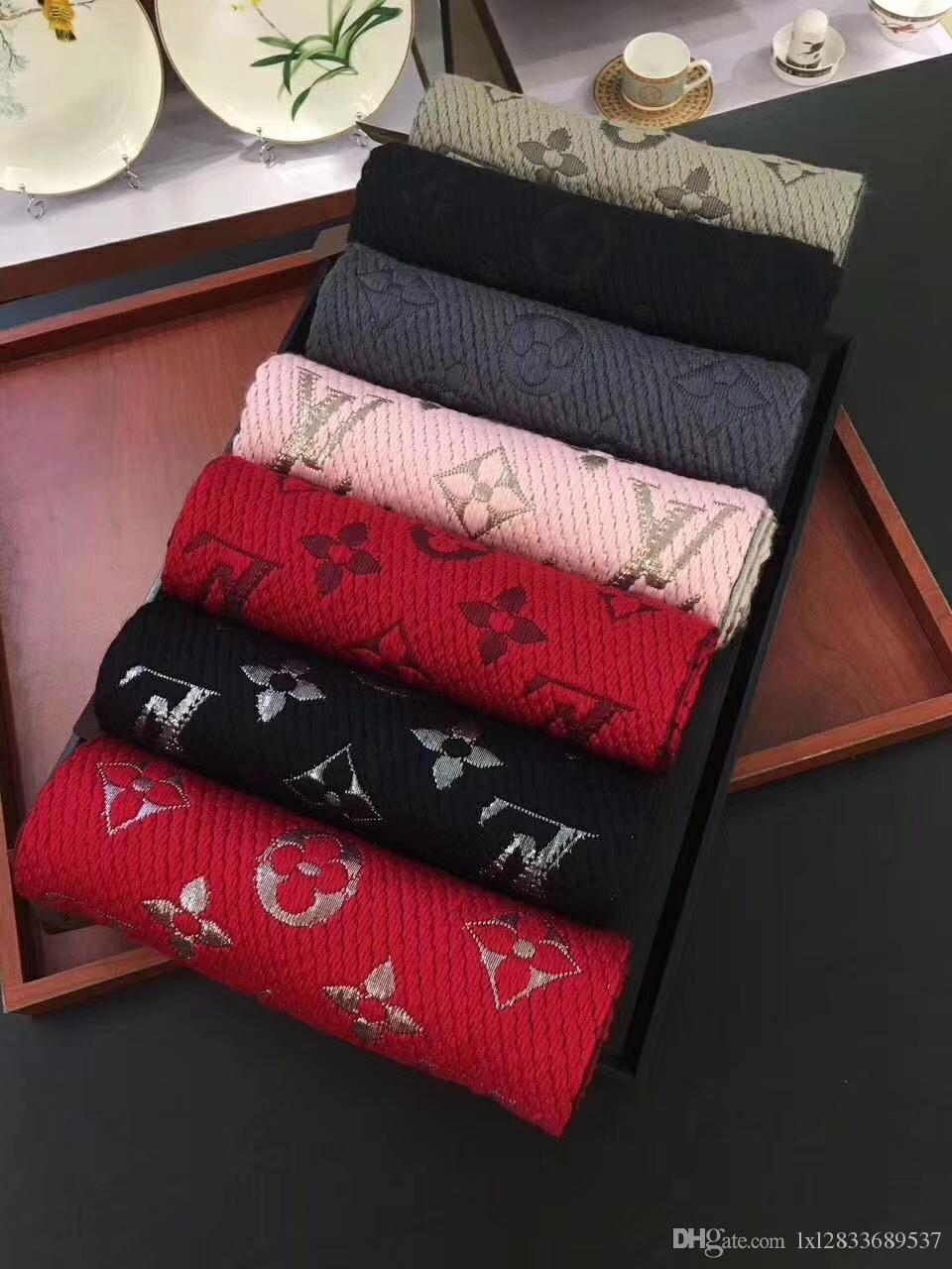 2019 nova lã grossa misturada lenço da forma de borla longo xale 7 lenço cor para casais 180 centímetros * 30 centímetros