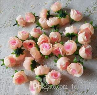 2020 NEW 13Colors 100PCS Artificial Rose Silk Flower budflower bud for Wedding Party Banquet Decorative Flowers
