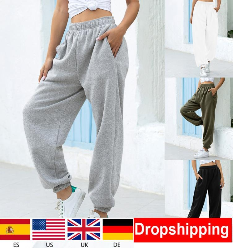 1jours navire dames en vrac Joggers PANTALON Pantalons pour femmes Pantalons taille douce Haut Streetwear coréenne Yoga Casual Pant Femme