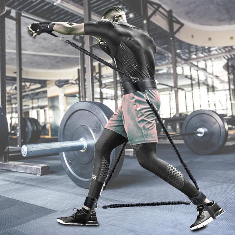 الفرق الرياضية للياقة البدنية المقاومة تعيين كذاب تدريب قوة المعدات ترتد المدرب المقاومة حبل الملاكمة تمتد الشريط