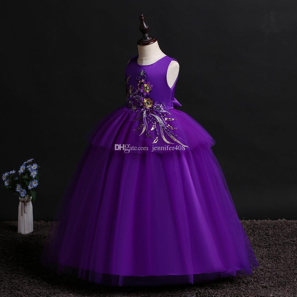 Princess Girls Dress For Wedding Flower Girl Dresses Gown Birthday Outfits Baby Children Clothes Ceremonies Dress