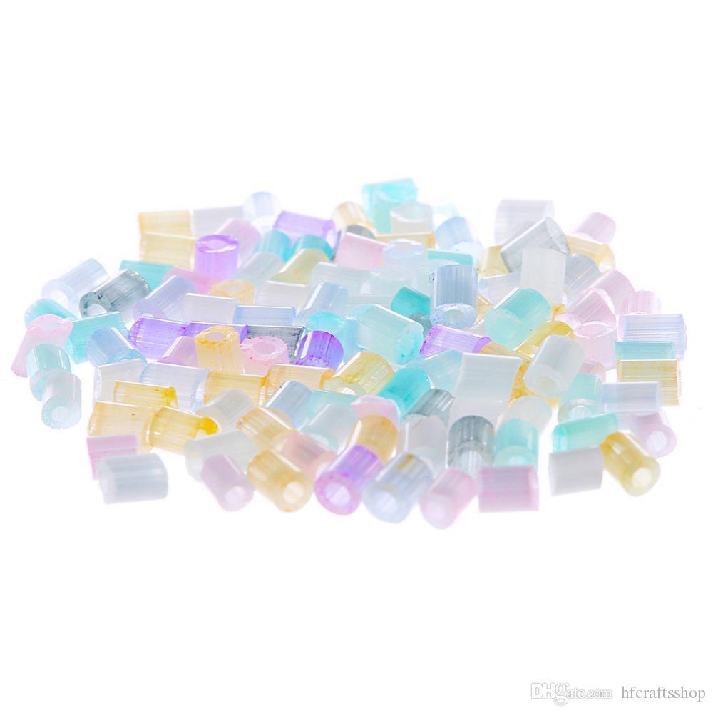 80 gram / grup Ev Takı Yapımı Için 7200 adet Cam Boncuk DIY Bilezik Kolye Iğne Için Dış Çap 1.8mm Boncuk