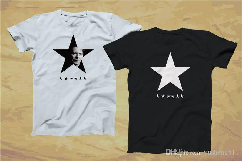 DAVID BOWIE BLACK STAR Heavy Cotton t-shirt Small to XXL **ALL COLOURS**
